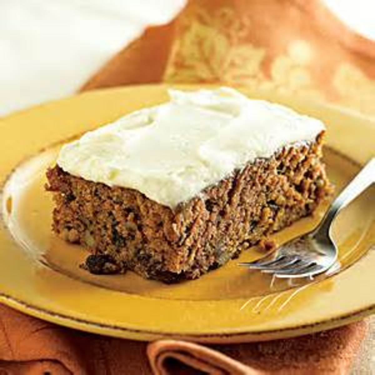 Applesauce Cake with Cream Cheese Icing