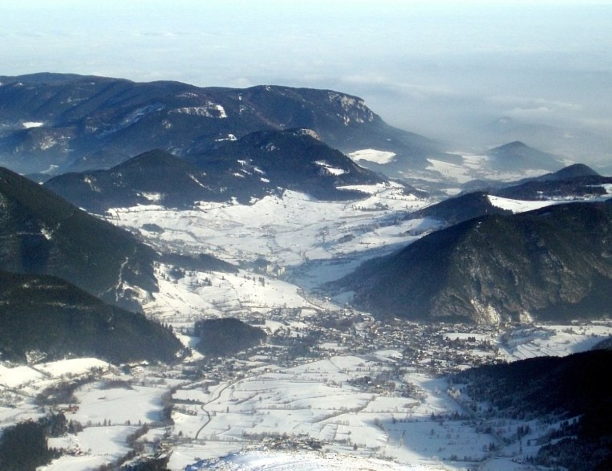 View to Puchberg as seen from the Schneeberg