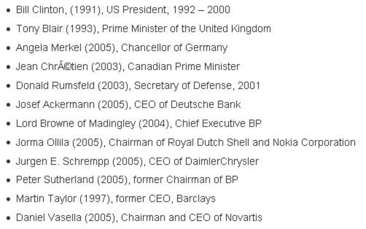 Bilderberg group members