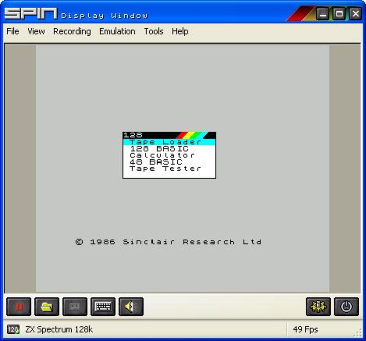 ZX Spectrum 128 mode