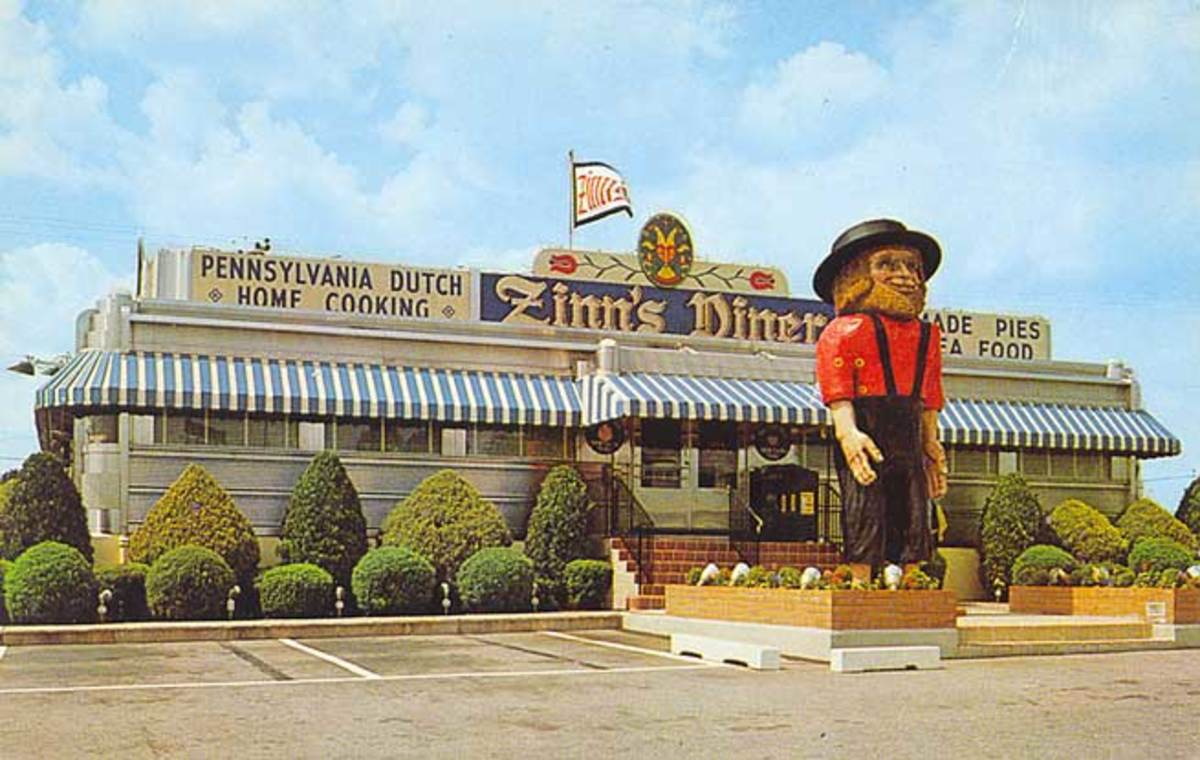 Larger than life Amos greeted patrons of Zinn's Diner for several decades in the late 1900s.