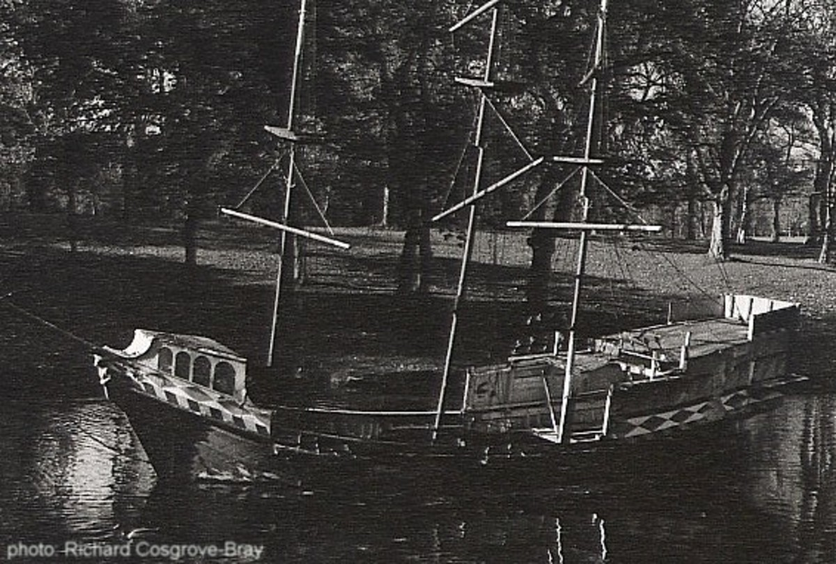 Captain Hook's famous pirate ship in Sefton Park - now lost forever, much to the chagrin of many a displaced duck.