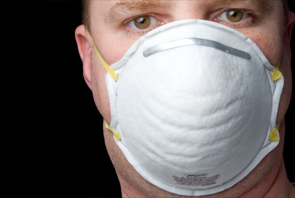 Man in dust mask