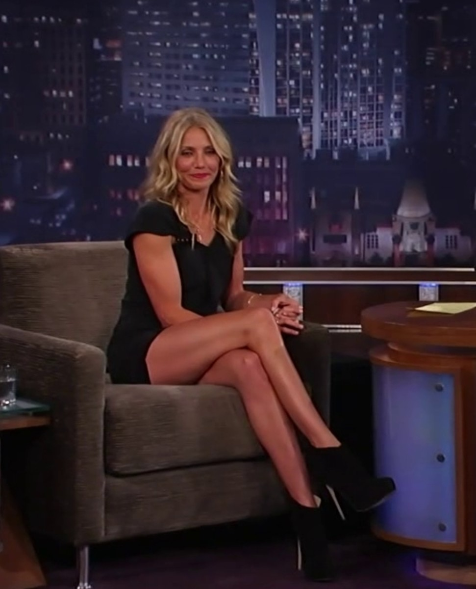 Cameron Diaz crossed legs on Kimmel