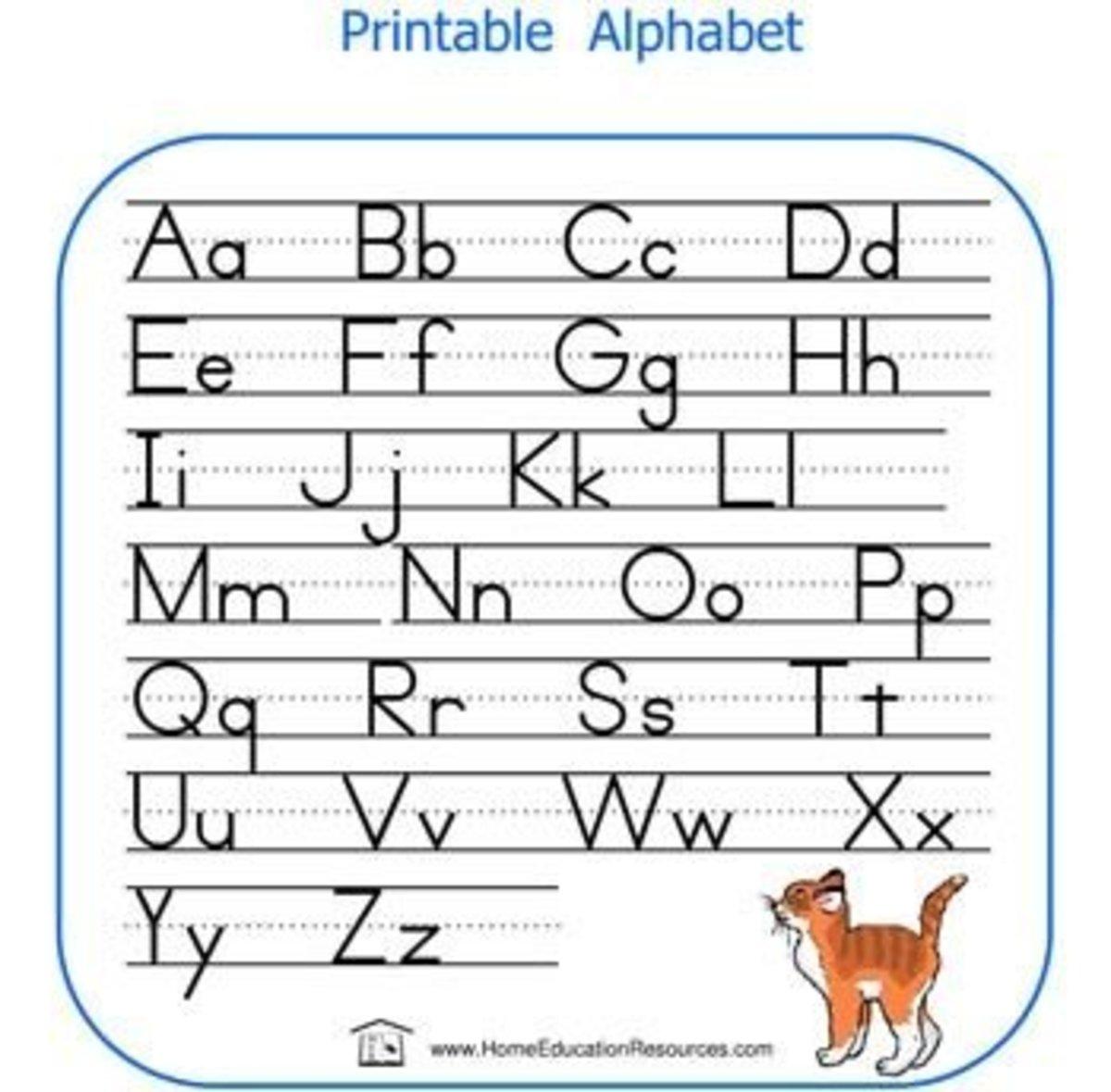 Handwriting Helper Chart