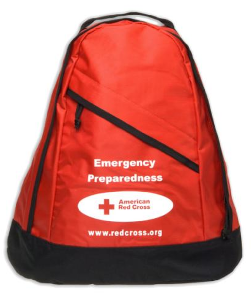The Red Cross Survival Backpack, $50, from the Red Cross Store