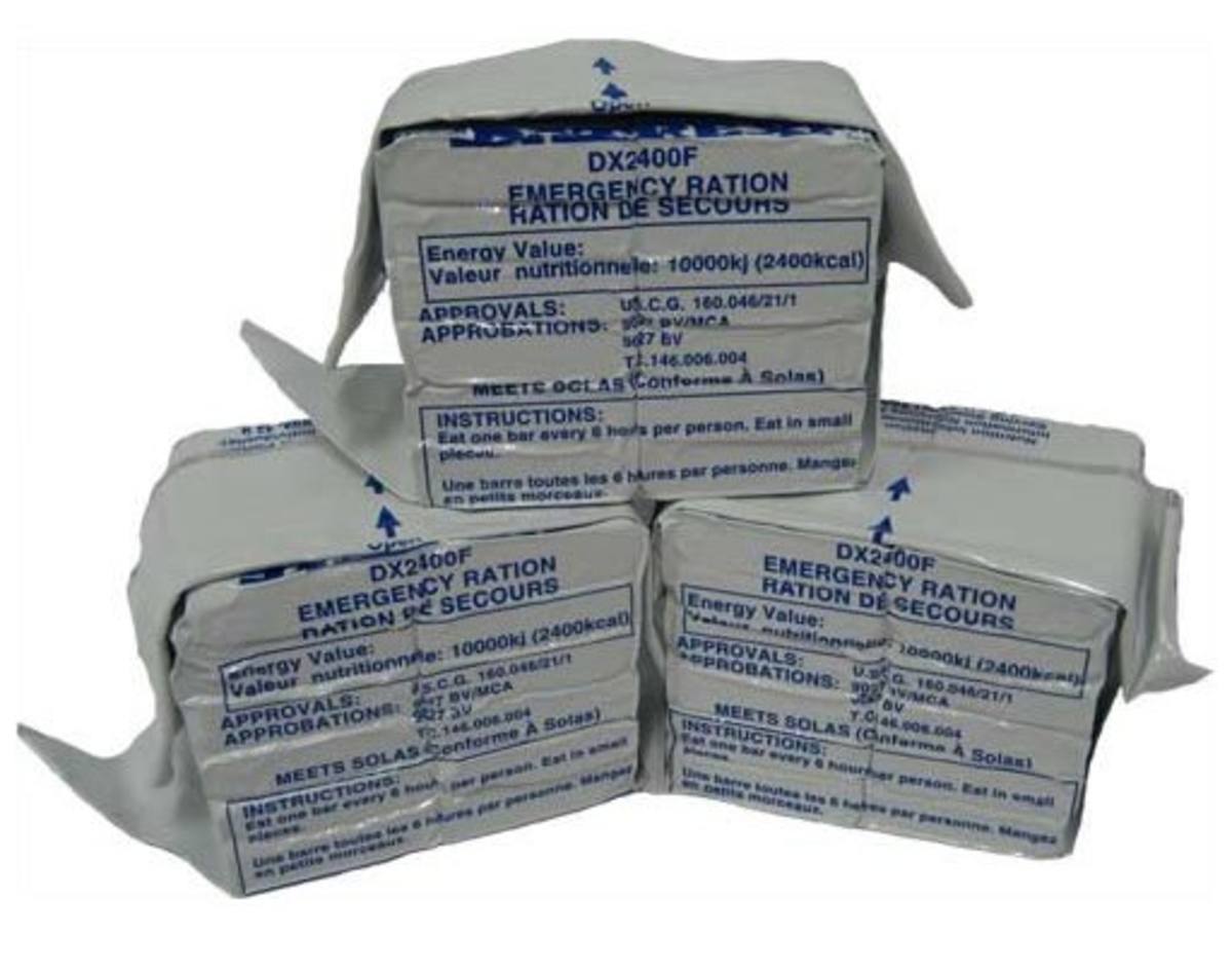 Emergency Food Bars for stocking your Earthquake Backpack. These bars last 5 years!