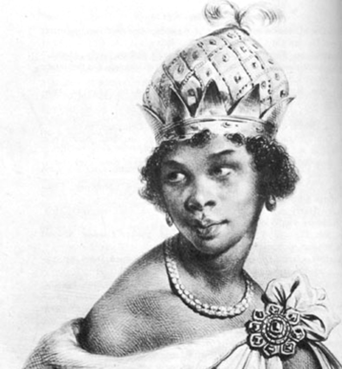 Queen Ann Nzhingha, 1583 - 1663. she died at the age of Eighty. She ruled Angola for Over Thirty years. she awakened the spirit of Nationalism and African Unity as a Warrior Queen with an Army of Amazon Women.