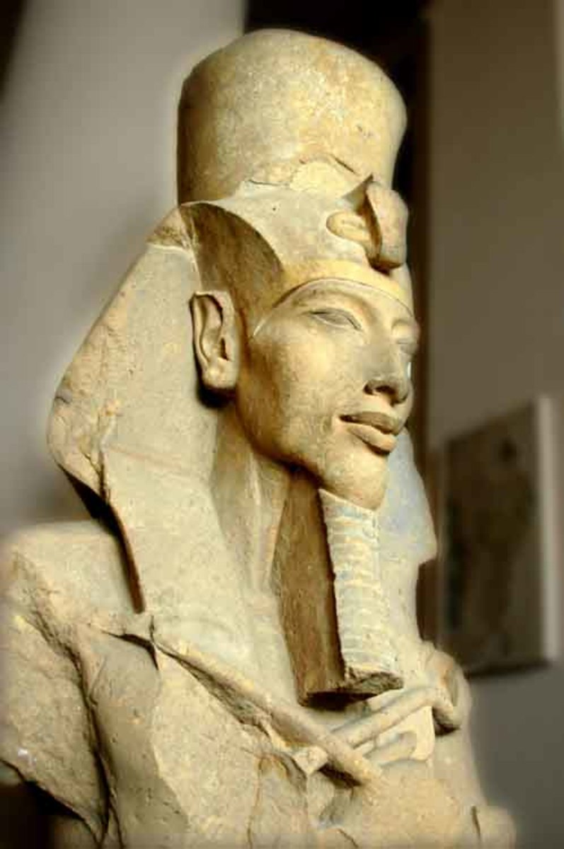 Akhenaton (Amenhotep IV) Pharaoh of the 18th Dynast who originated the Monotheistic Religion