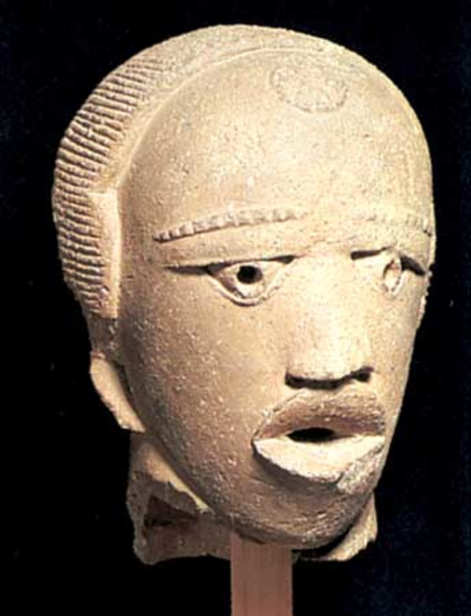 Nok Culture: terra-cotta Nok Head
