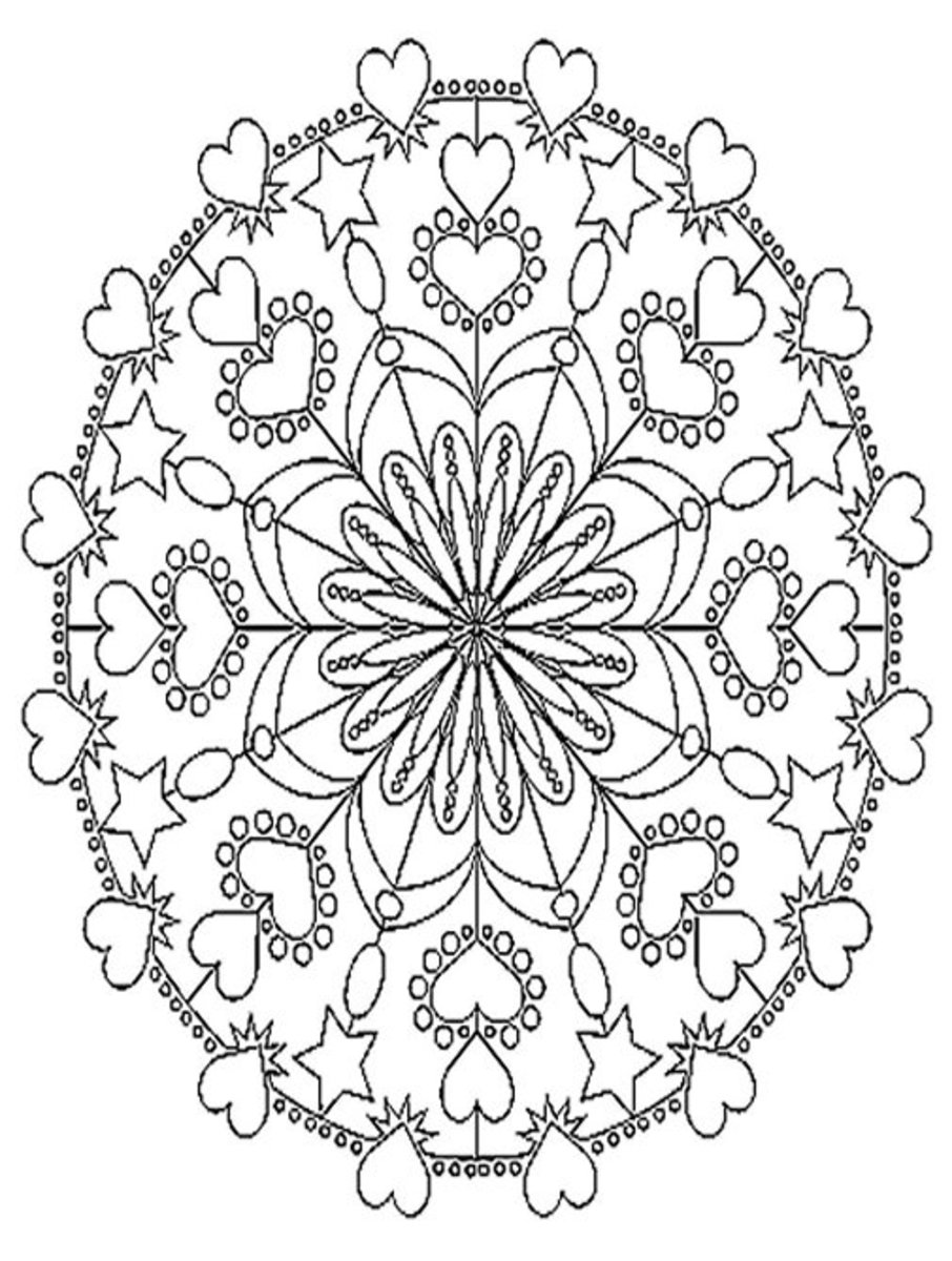 Adult Abstract Pictures Colouring Pages