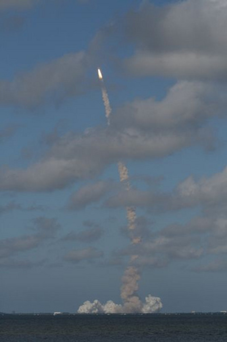 Space Shuttle Launch View from Titusville
