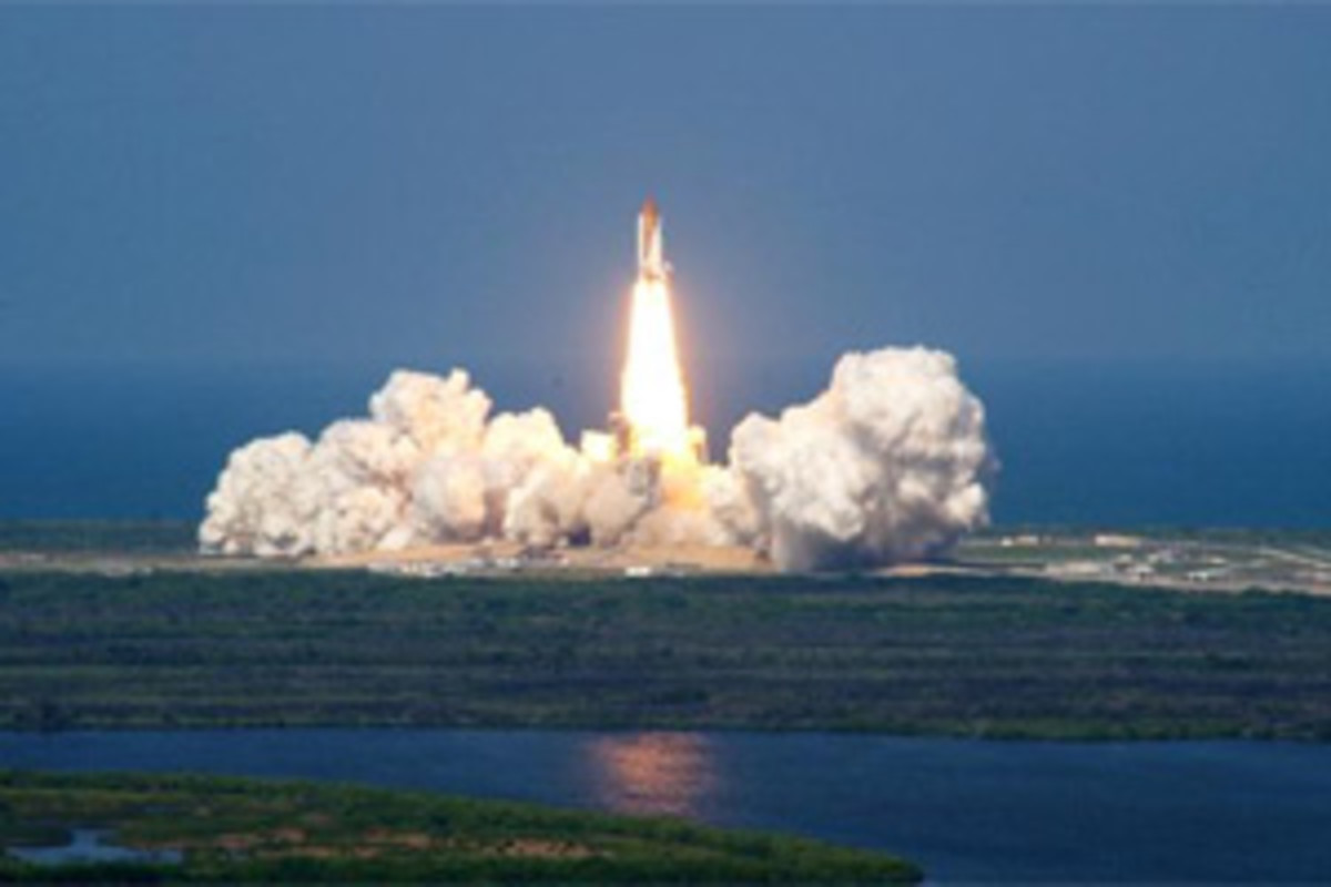 You can view a shuttle launch from a boat.