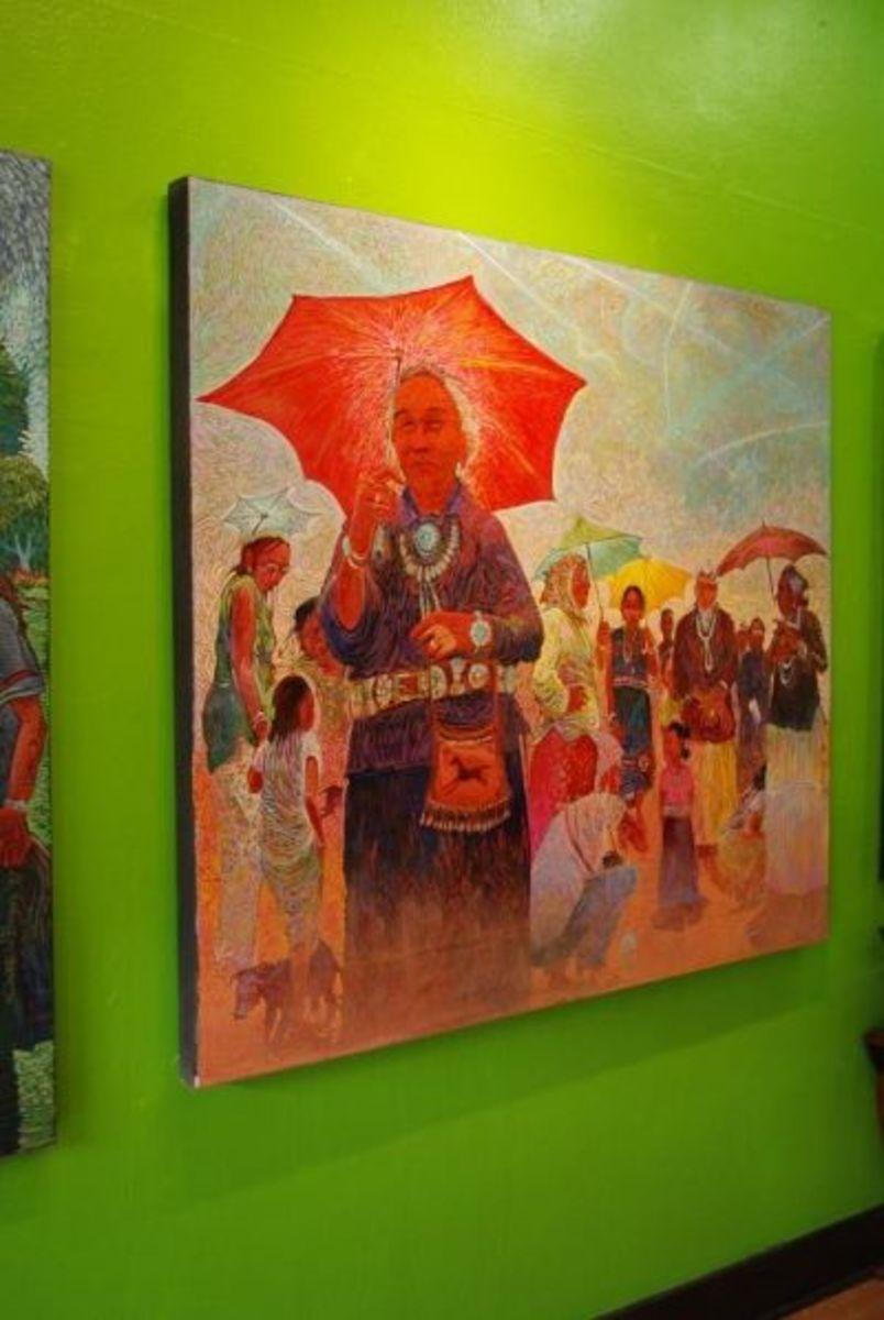 Original paintings by Navajo artist Shonto Begay.