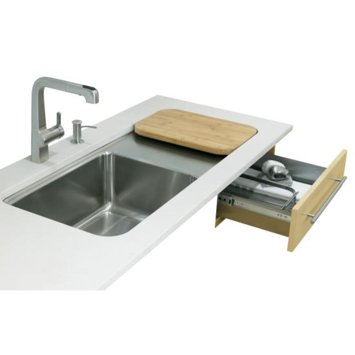 Kohler Food Preparation Sinks make easy work of meats and vegetable preparation