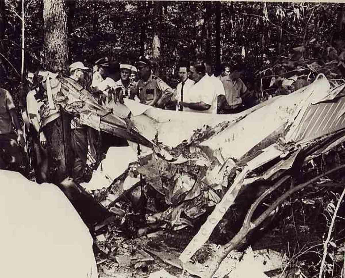 The crash site