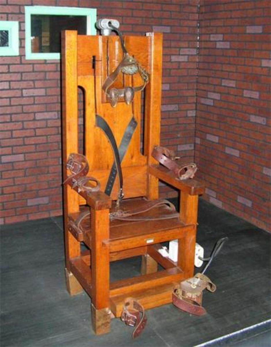 Texas electric chair used until 1954.