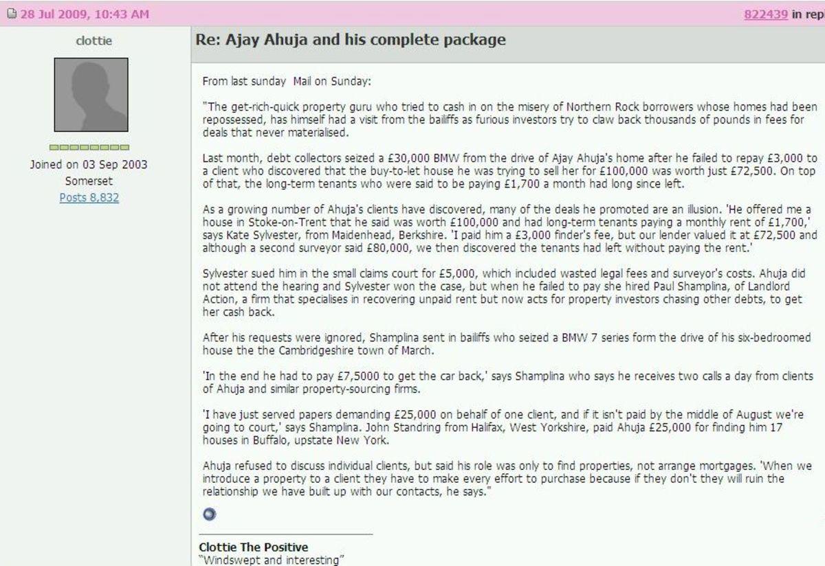 Hooray! Ajay Ahuja gets sued!