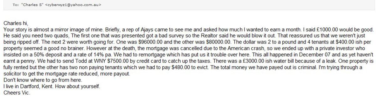 Another Ajay victim - responding because of this hubpage