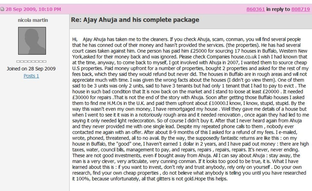 Another one of Ajay Ahuja's many victims