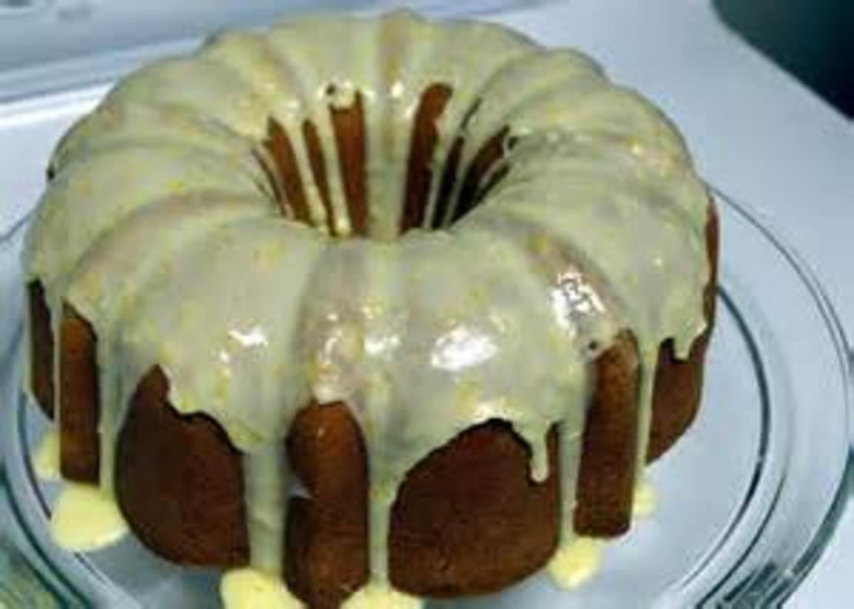 Orange and Lemon Glaze over a bundt cake