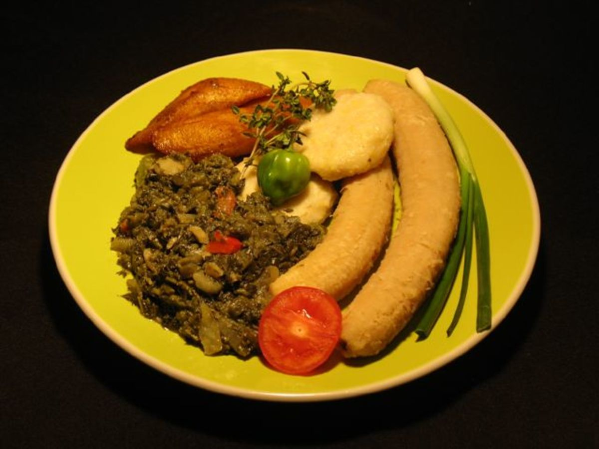 Callaloo and Saltfish dish
