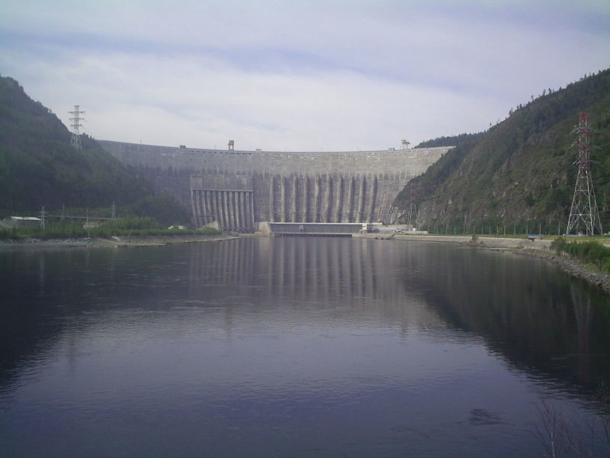 The Sayano-Shushenskaya hydroelectric power dam