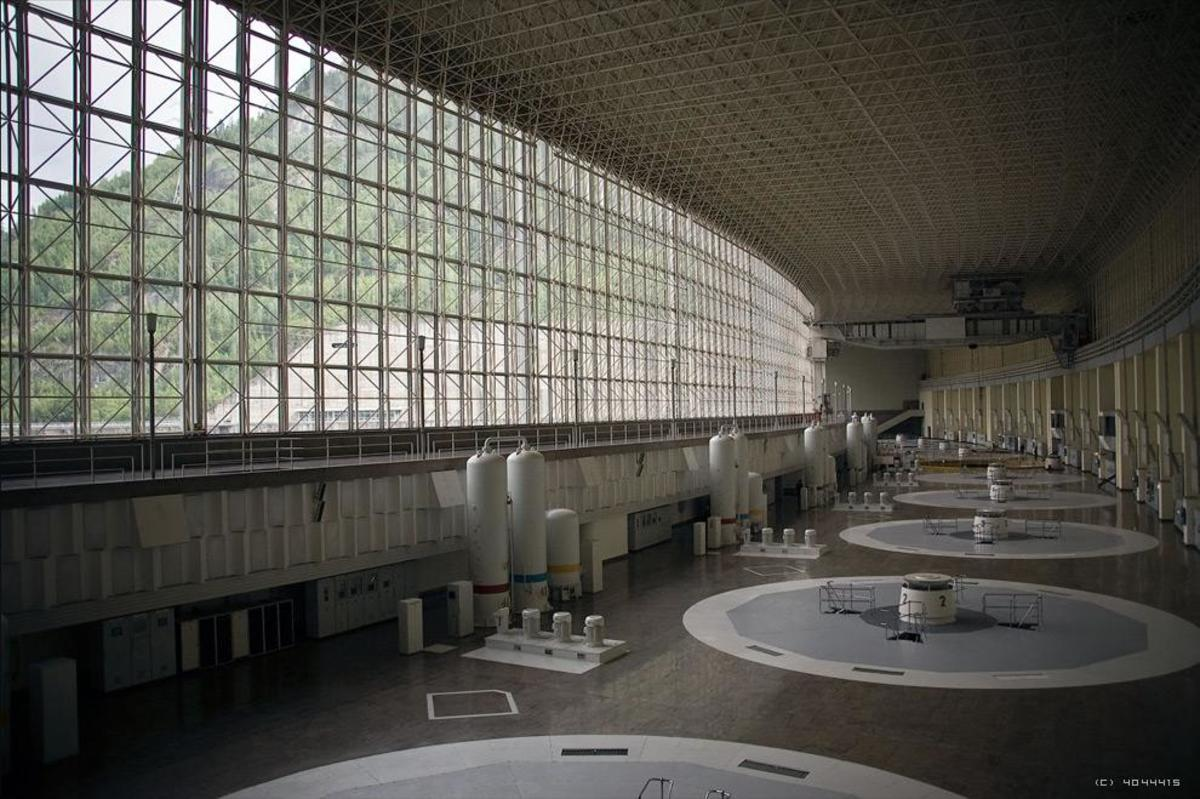 The Generator Hall of Sayano-Shushenskaya hydroelectric power station  (Andrey Korzun / CC BY-SA)