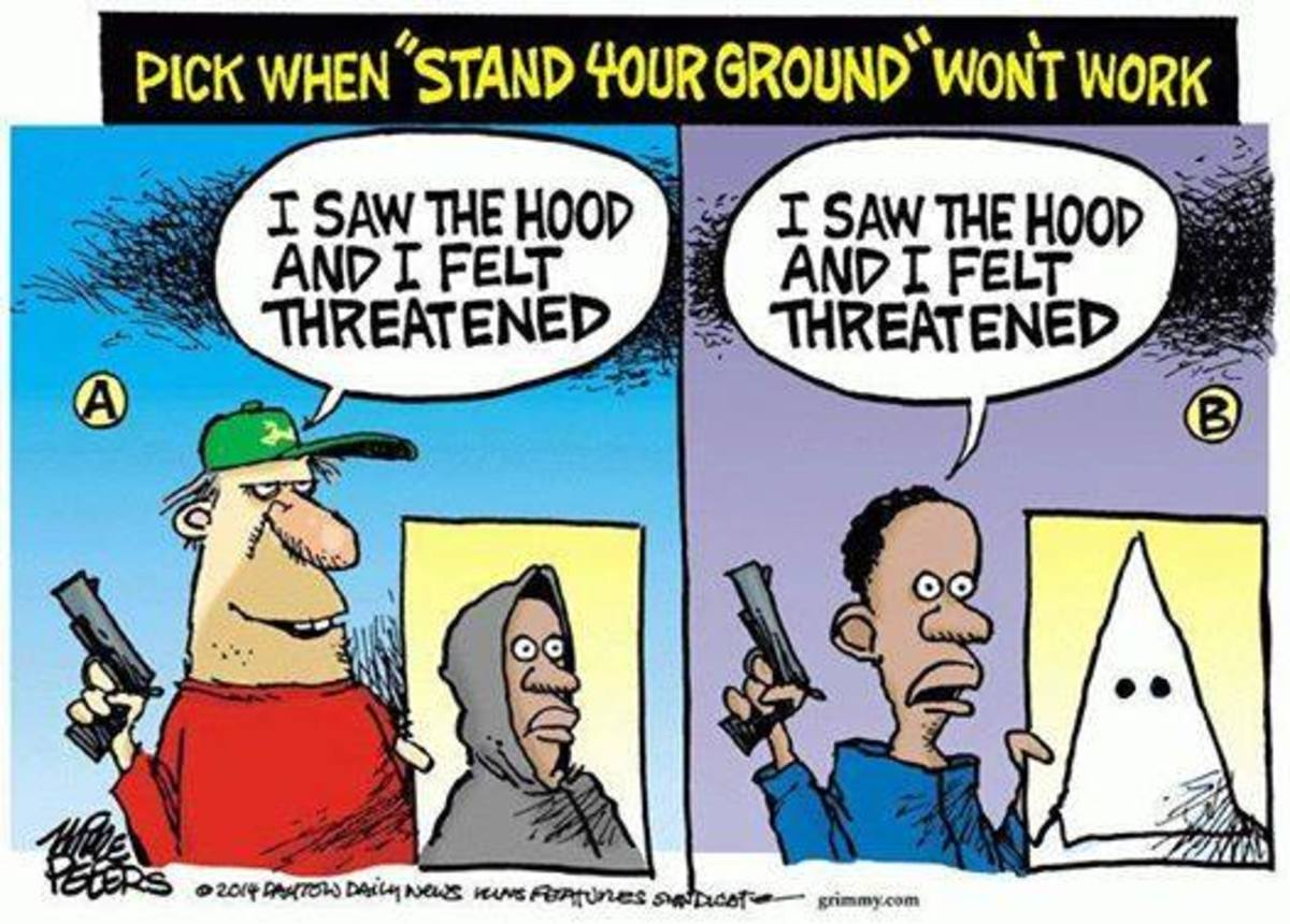 "One of the most troubling aspect of racism is the ""Stand Your Ground Law"" which has seen a rise in the shooting of young African American boys and girls"
