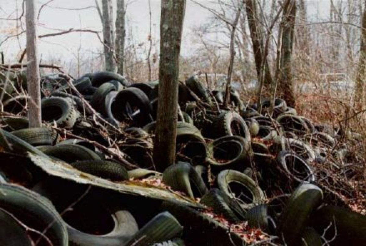 The tires of the cars create an unforeseen environmental hazard and gridlock in processing and recycling them