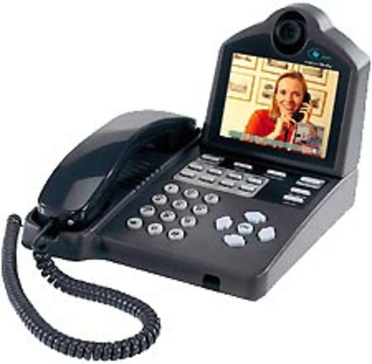 MM225 ISDN Video Conferencing phone. If you are calling a group conferecing system, you can remote control a third party camera from the keypad of your phone.  You can attach a document camera to the phone; connect our PC for T.120 data sharing