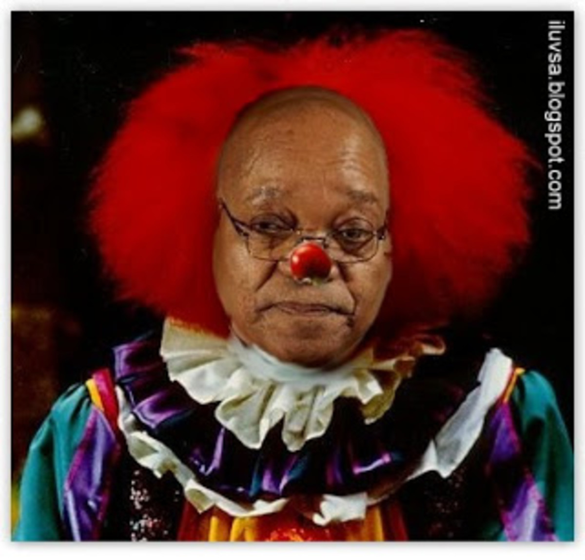 During this year's election campaign, Zuma's shiny pate was everywhere on placards tied to lampposts in city streets and the remotest rural village. You couldn't switch on a television without seeing the swivelling hips and hearing his oft-repeated d