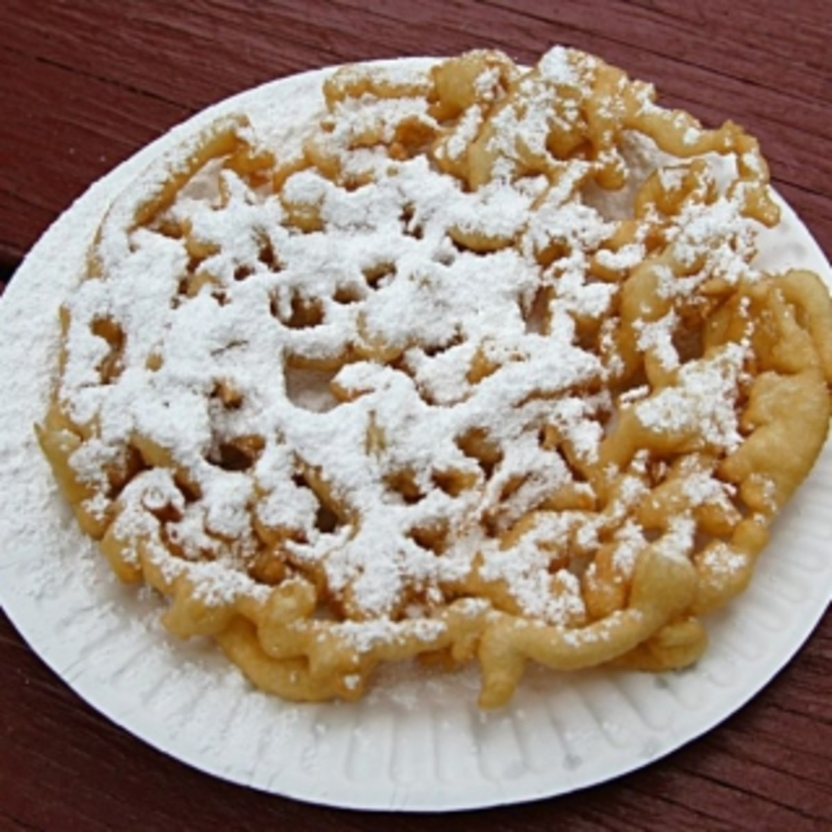 Here's a recipe for one of my favorite things in the world and that is a delicious deep fried funnel cake.
