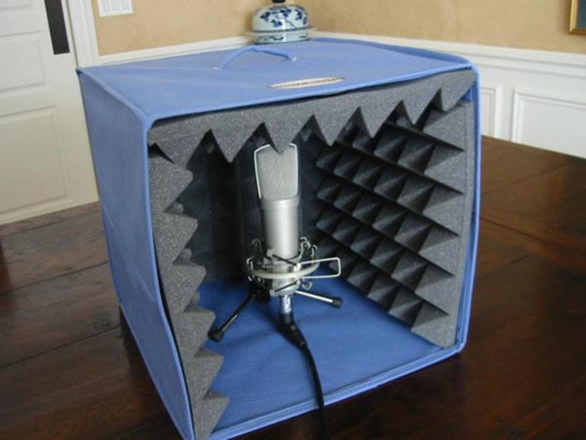 A DIY home voice over studio