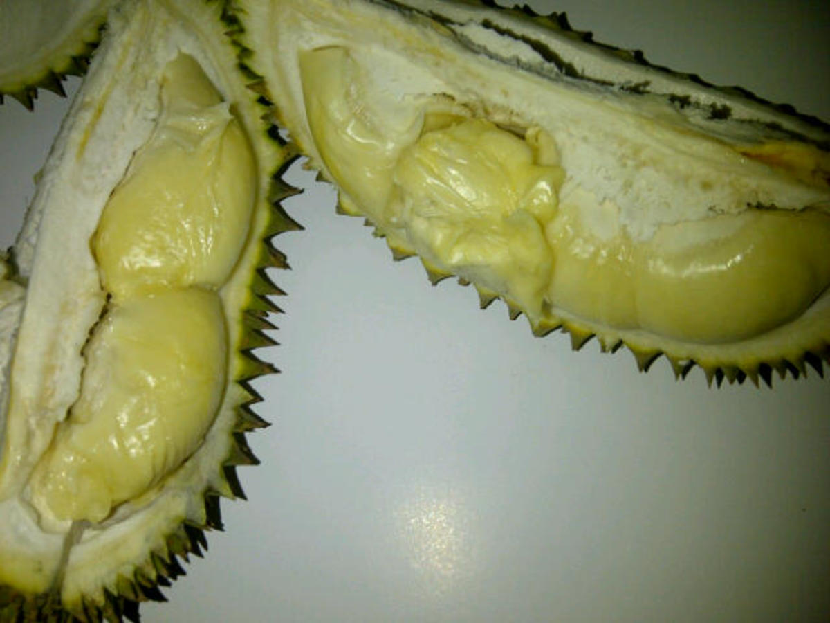 Durian's just been splitted.