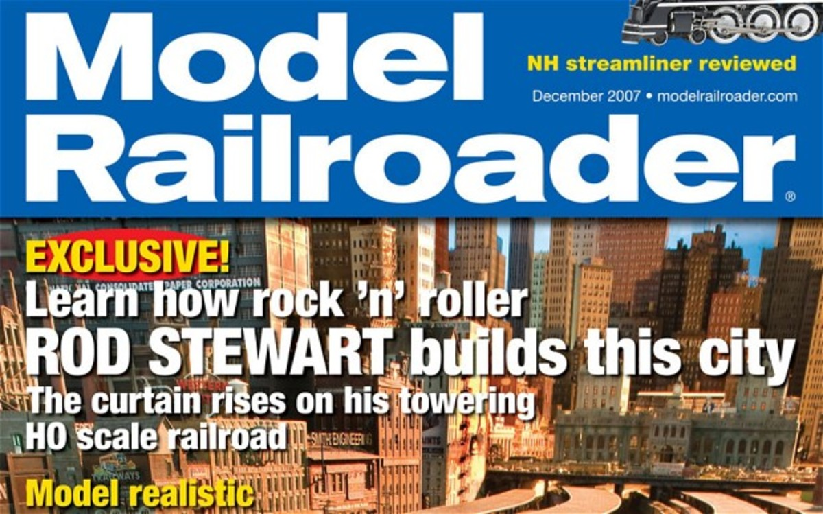 Rod Stewart model train set appears on the front cover of the Railroder magazine