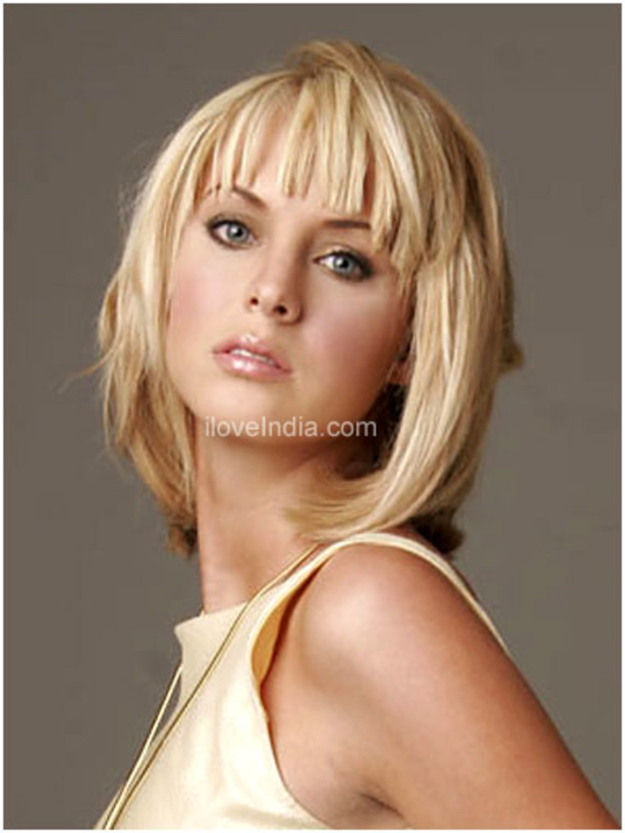 pictures of medium hairstyles for heart shaped faces