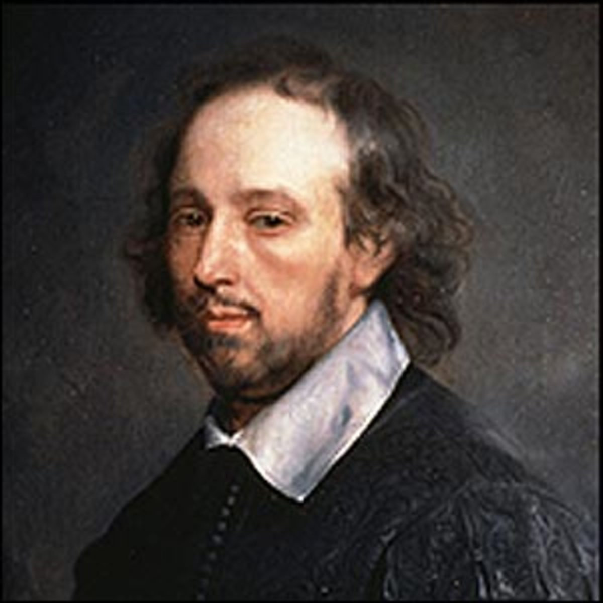 This is one of the earliest examples of a memorial portrait of Shakespeare and was probably produced in the late 1660s by the Dutch-born artist Gerard (or Gilbert) Soest.