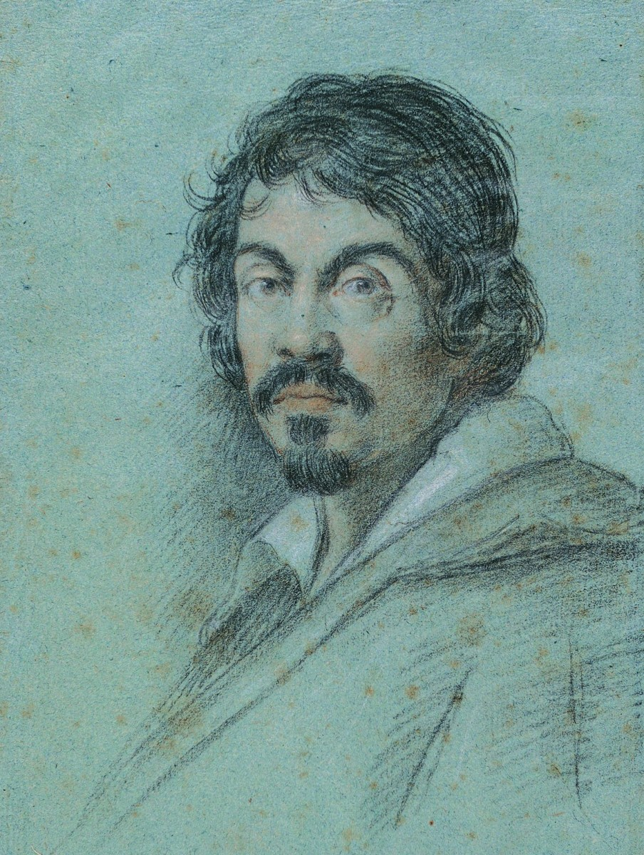 """Chalk portrait of Caravaggio"" 1621 By Ottavio Leoni; Kimbell Art Museum, Ft. Worth, Texas"