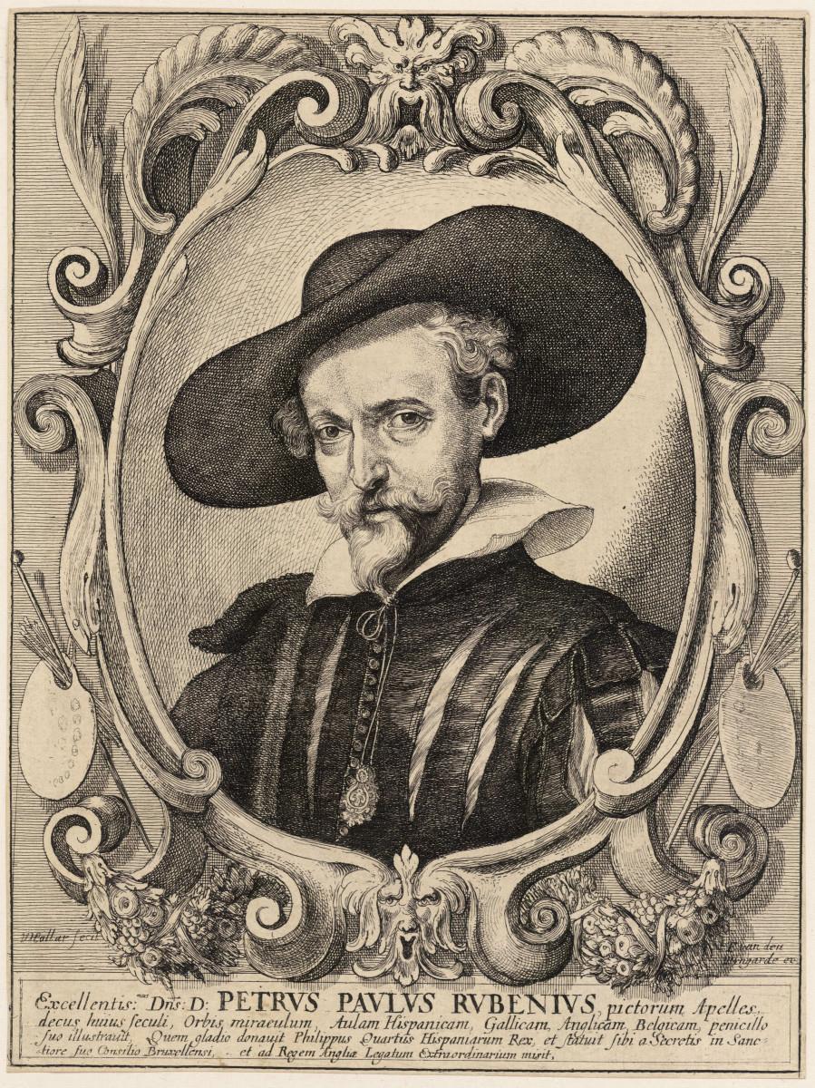 """Rubens""  Etching by Wenzel Hollar 1619; University of Toronto"
