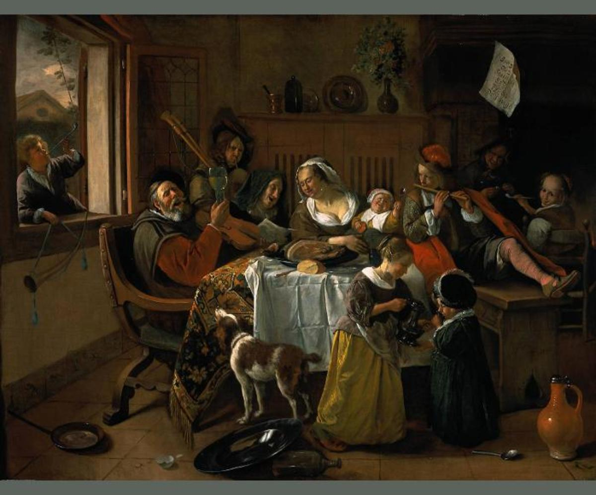 "Jan Steen ""The Merry Family"" 1668; Rijksmuseum, Amsterdam"