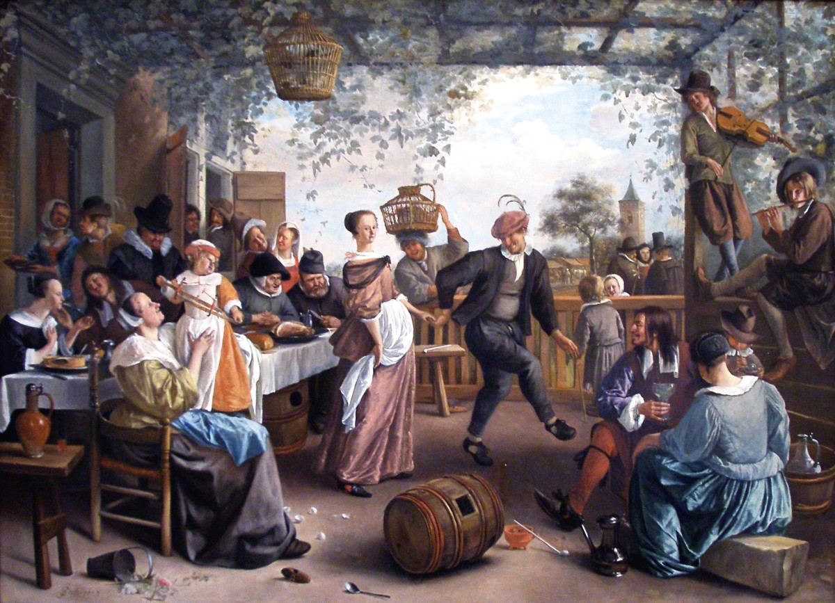 "Jan Steen ""The Dancing Couple"" 1663; National Gallery of Art, Washington, D.C."
