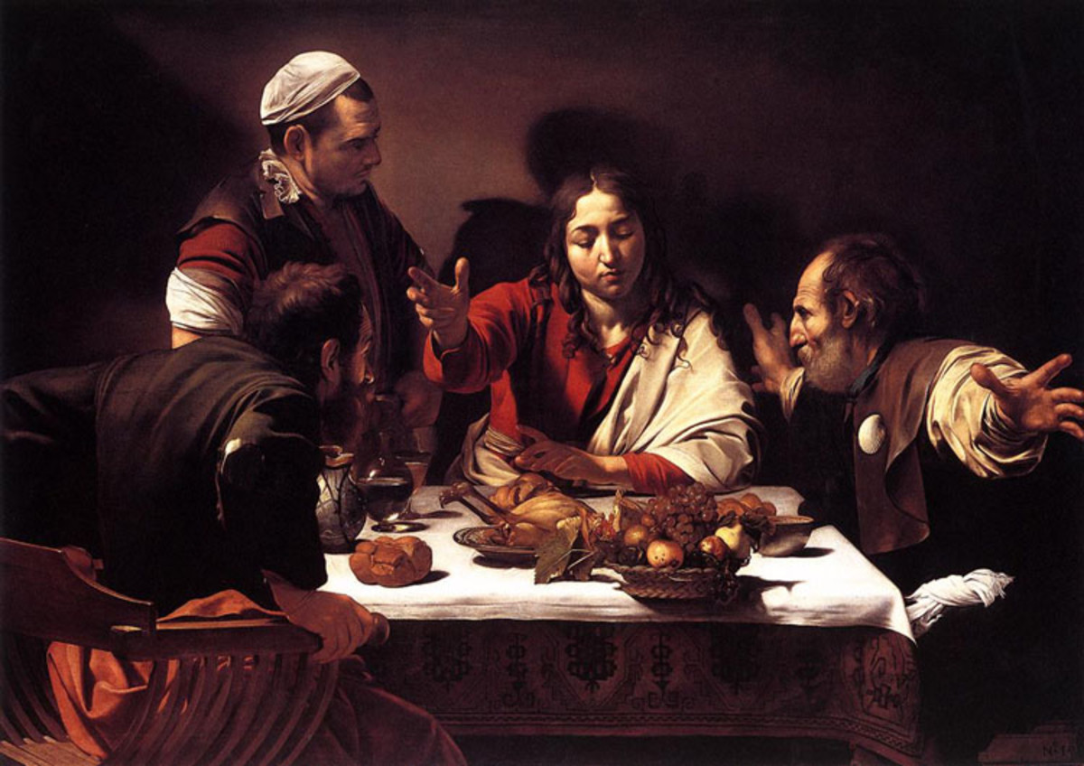 "Caravaggio ""Supper at Emmaus"" 1601; The National Gallery, London"