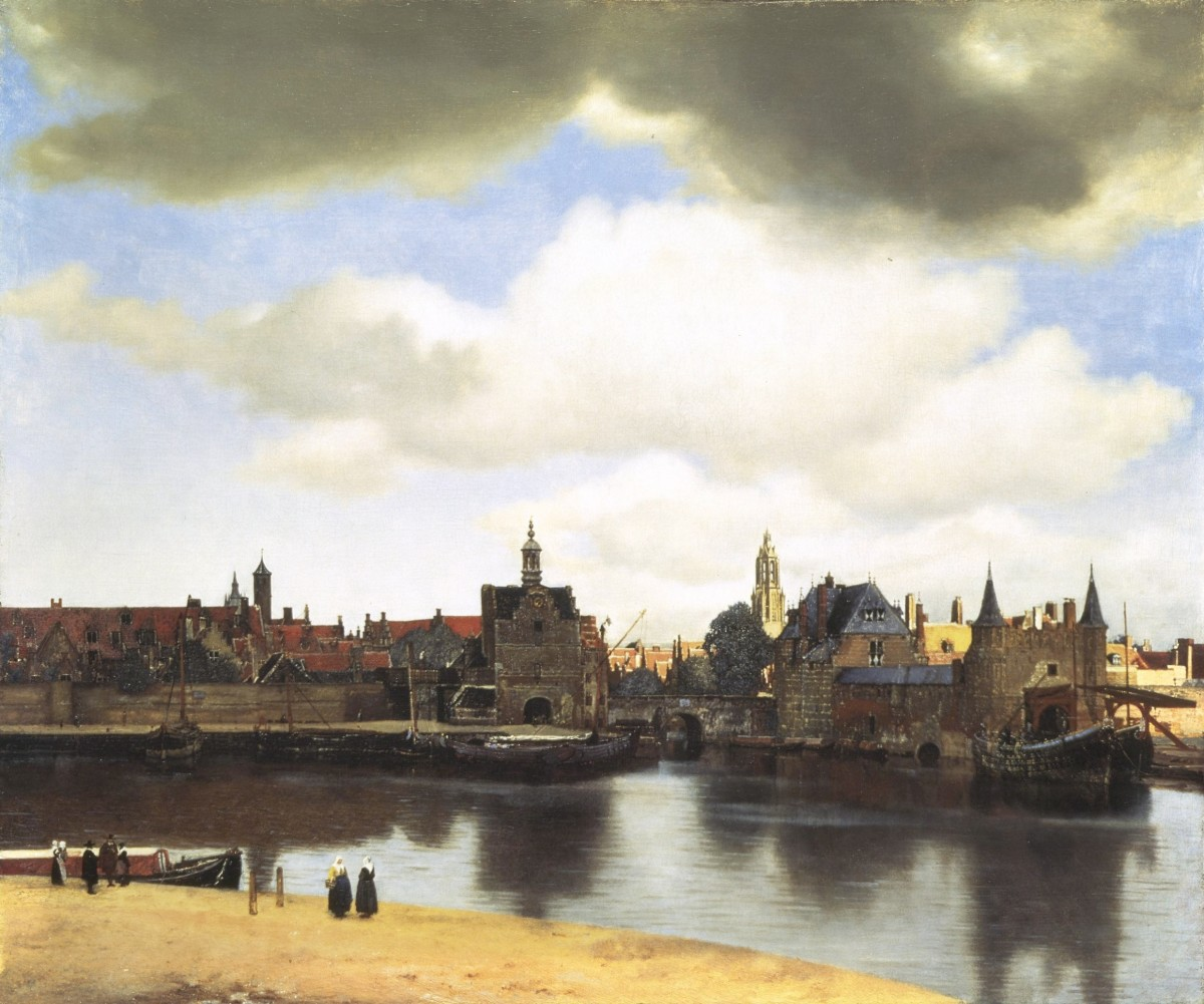 "Vermeer ""View on Delft"" 1661; Royal Picture Gallery, The Hague, The Netherlands"