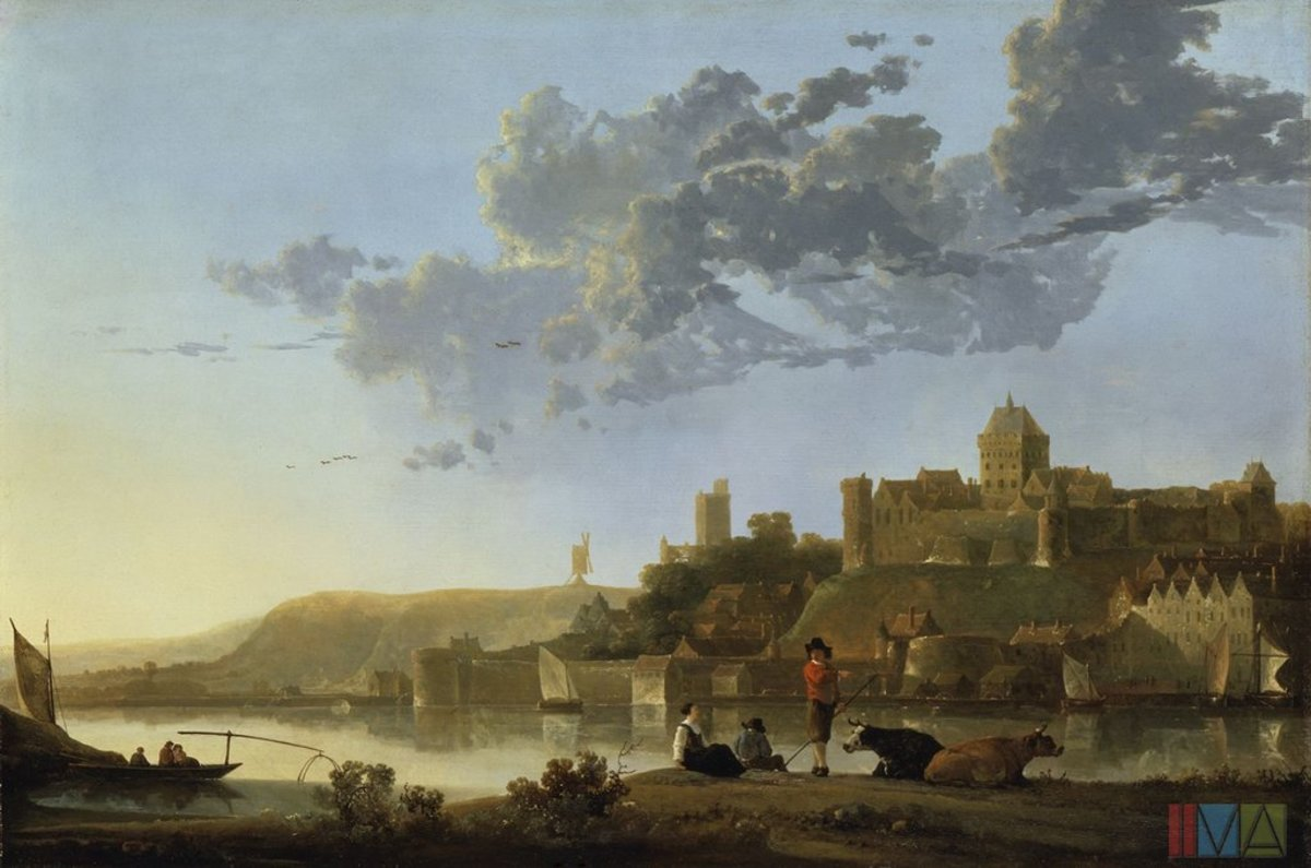 "Aelbert Cuyp ""The Volkhof at Nijmegen"" 1665; Indianapolis Museum of Art"