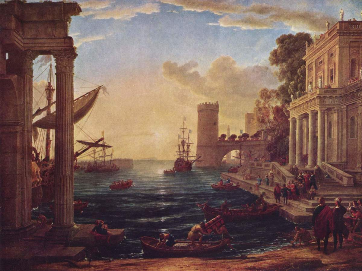 "Claude Lorrain ""Seaport with the Embarkation of the Queen of Sheba"" 1648; The National Gallery, London"