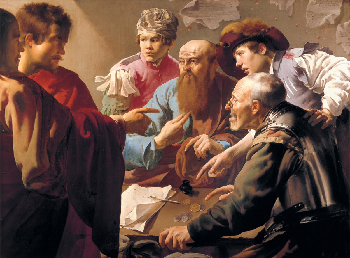 "Hendrick Terbrugghen ""The Calling of St. Matthew"" 1621; Centraal Museum, Utrecht, The Netherlands"