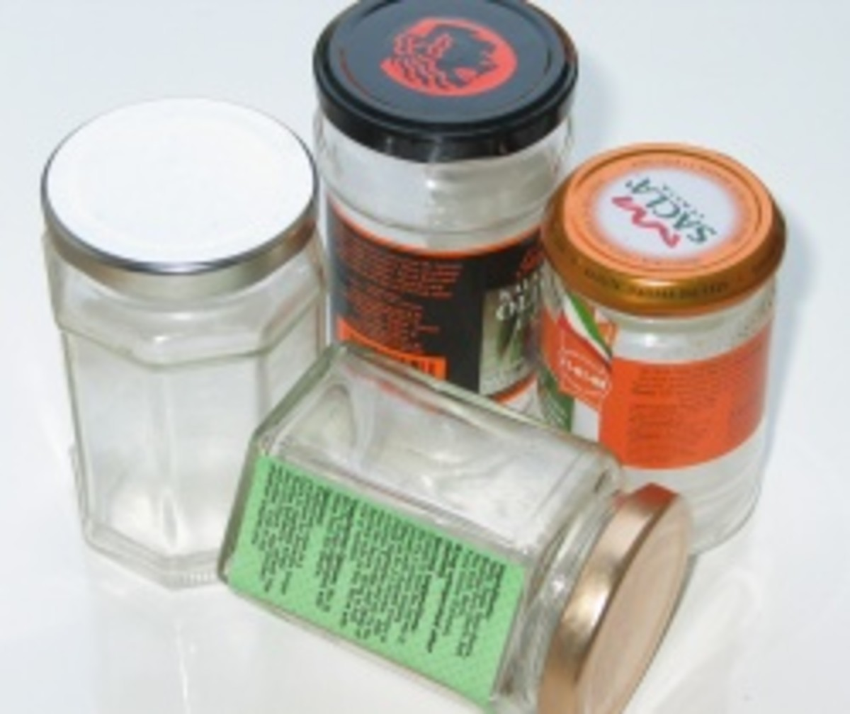 You can recycle jars to save money and help save the earth!