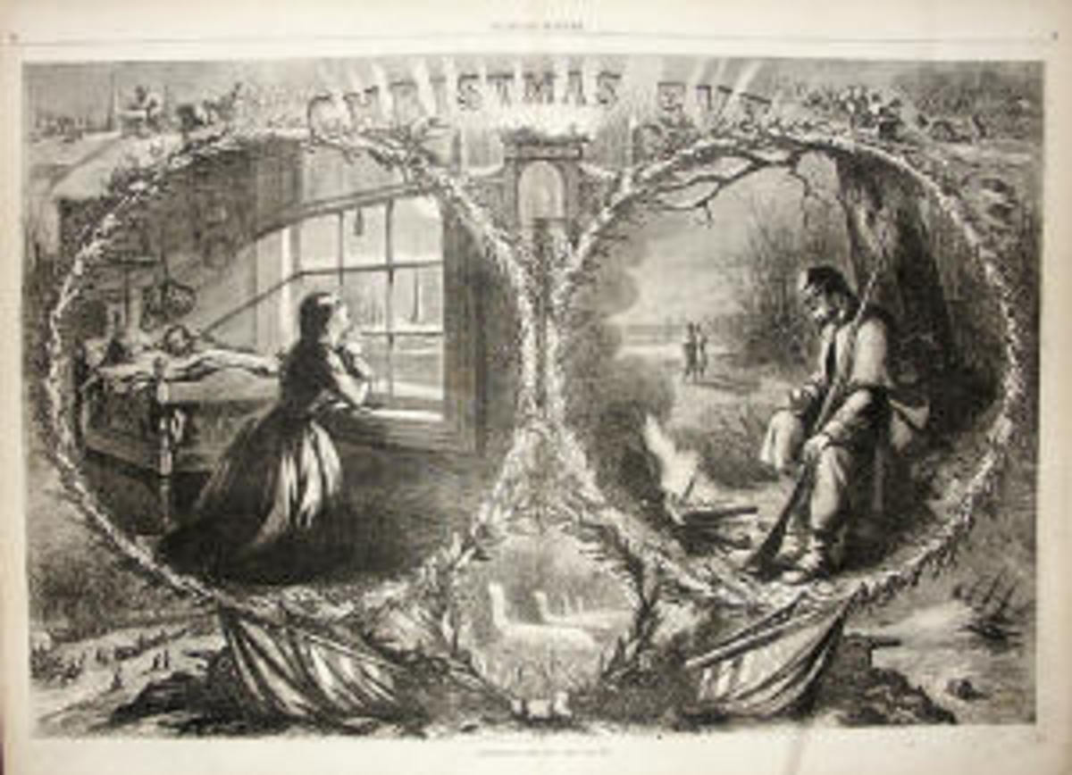 Civil War Christmas illustrated by Thomas Nast