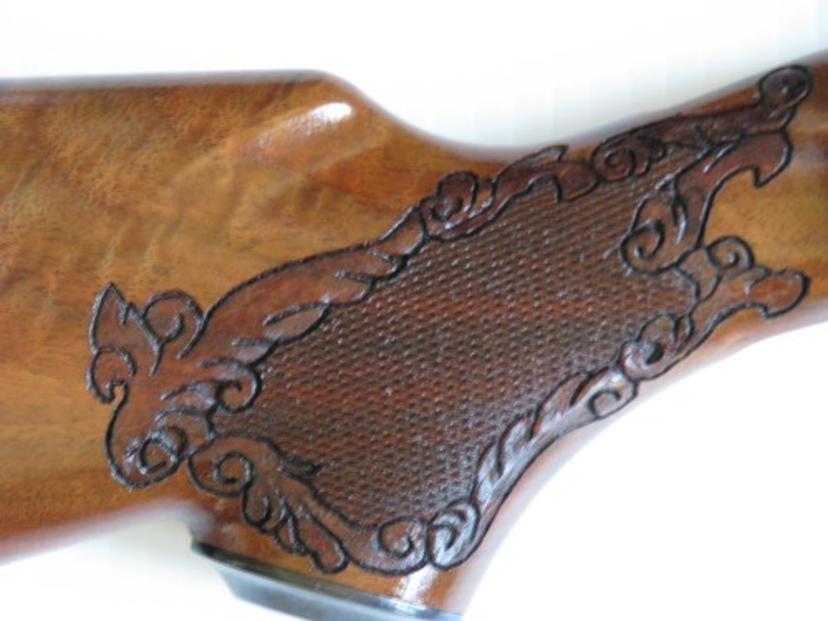 Fancy Hand Carved Pistol Grip